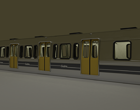 Subway train from Buenos Aires metro vehicle 3D model