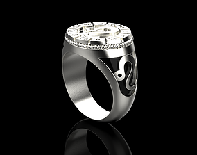 Zodiac ring LEO 3D printable model