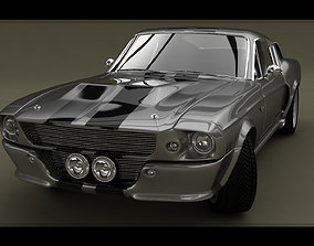 3D Ford Mustang Shelby GT 500 1967