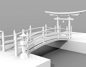 Japanese Bridge 3D model