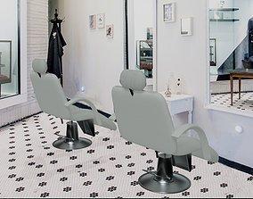 Barber Chair 2 3D model