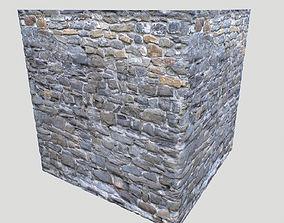 Stone wall textures pack 4 3D model