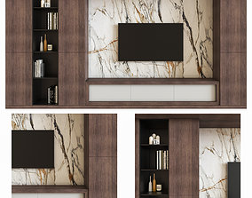 Modern Tv Wall 1 room 3D model