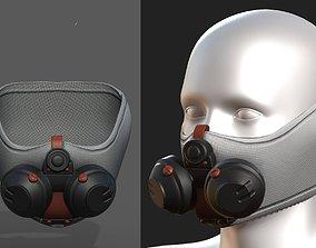 3D asset Gas mask respirator scifi futuristic