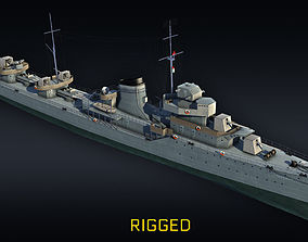 gremyashiy Destroyer RIGGED project 7 Gremyashiy 3D