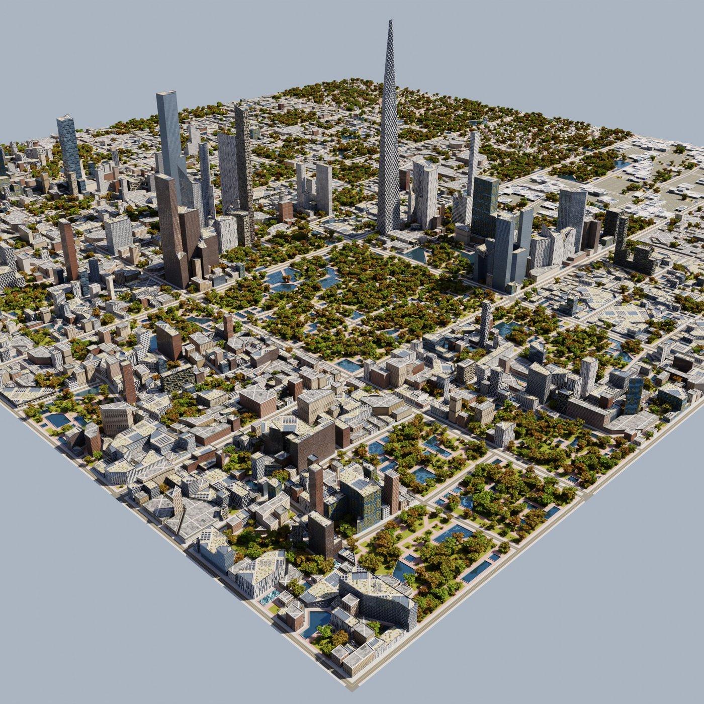 Blender Cycles Modern Modular City