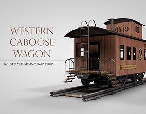3D model Western Caboose Wagon