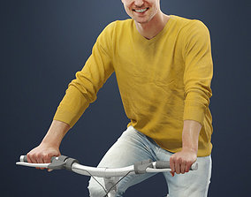 3D model Vince A Casual Man Riding His Bicycle