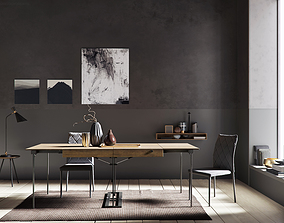 3D model Grey Wall interior scene
