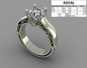 Diamond ring dual color 3D print model