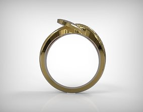 3D printable model Jewelry Golden Braided Ring