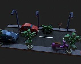Game Jam Street Pack Runner 3D asset game-ready