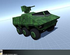 Stylized Technics - MRAP 2 3D asset VR / AR ready