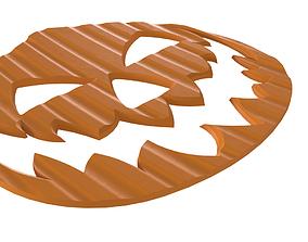 Drink coaster - Halloween pumpkin 3D print model