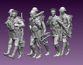 3D printable model British soldiers ww1
