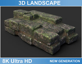Low poly Ruin Medieval Construction 01 2020 3D model