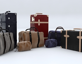 Suitcases and Handbags Collection 3D