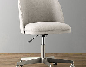 ALESSA UPHOLSTERED DESK CHAIR 3D