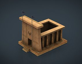 3D model Egyptian Temple