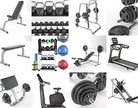 3D model Gym Equipment Set