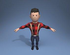 3D model Lumberjack