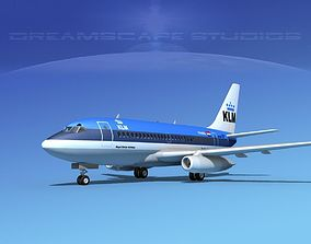 Boeing 737-100 KLM Royal Dutch Airlines 3D