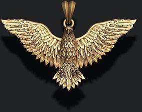 3D print model fly Eagle pendant