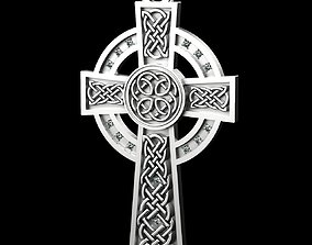 3D printable model Celtic Cross pendant with and without