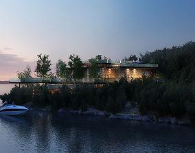 Villa 3d model residential