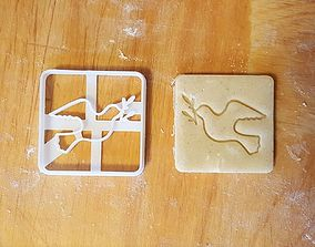 3D printable model Pigeon Dove bird cookie cutter