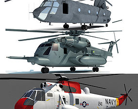 Set of 3 Military Aircrafts 3D