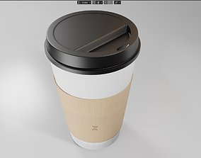 3D asset disposable coffee cup