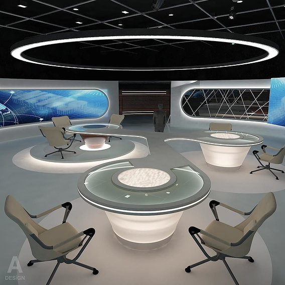Virtual Broadcasting News Studio 028