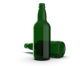 Beer bottle 3D printable model
