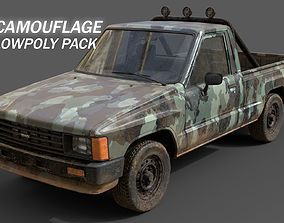 3D asset Toyota Hilux 1983-8 Camouflage Pack