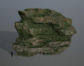 3D model VR / AR ready rocks dune