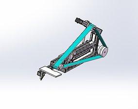 Aluminum profile sander 3D model