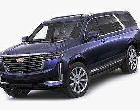 3D Escalade 2021 ESV large SUV