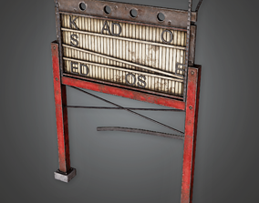 PAS - Post Apocalyptic Abandoned Sign 17 - PBR 3D model 1