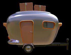 3D asset Stylized Cartoon Caravan