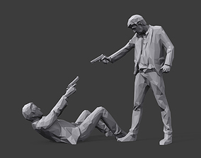 Mr White versus Mr Pink 3D asset