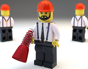 Lego Chief Worker 3D model