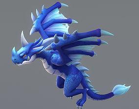 Cartoon Dragon 3D asset