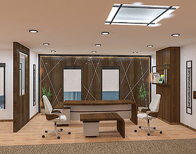 3D model office furniture space