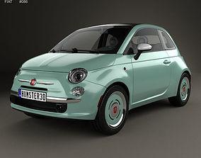 3D model Fiat 500 C San Remo 2014 italian