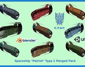 Spaceship Patriot Type 2 Merged Pack 3D model