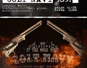 3D model VR / AR ready Colt Navy 1851
