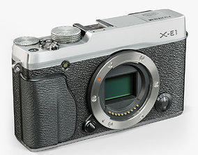 Fujifilm X-E1 Silver mirrorless digital camera 3D model