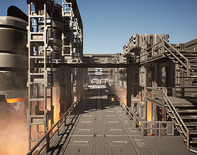 3D model realtime Sci-Fi Factory