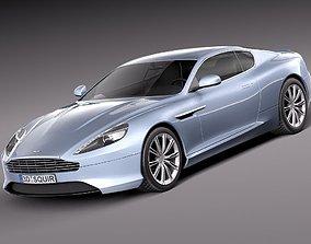 fast 3D model Aston Martin DB9 2013